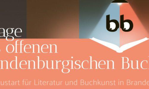 Die 2.Tage des offenen brandenburgischen Buches vom 28. Mai – 20. Juni 2021